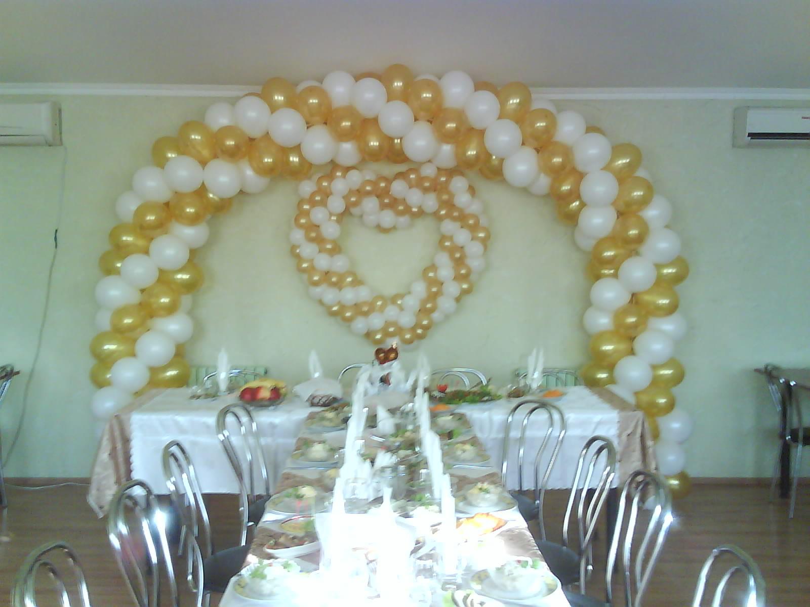Фото свадебных украшений из шаров